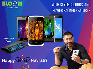 Bloom Mobiles Smart Phones With Free Flip Covers … Happy Navratri !!!!
