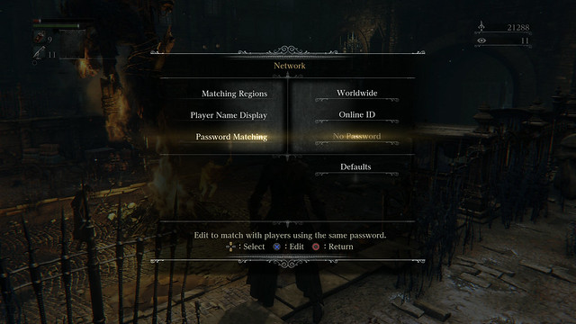 Bloodborne, Password