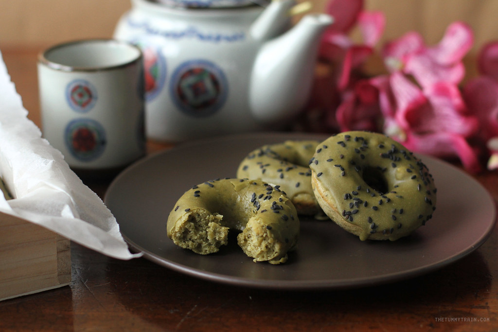 17103258887 23819e26ee b - Baked Matcha Doughnuts for my Japan Hangover