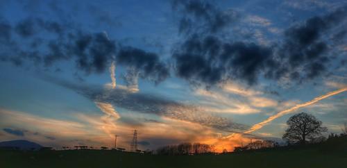 sunset sky silhouette goldenhour graig vapourtrails northwales glanconwy canoneos650d ashperkins