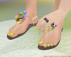 Pure Poison - Lilly Ann Sandals  Rainbow