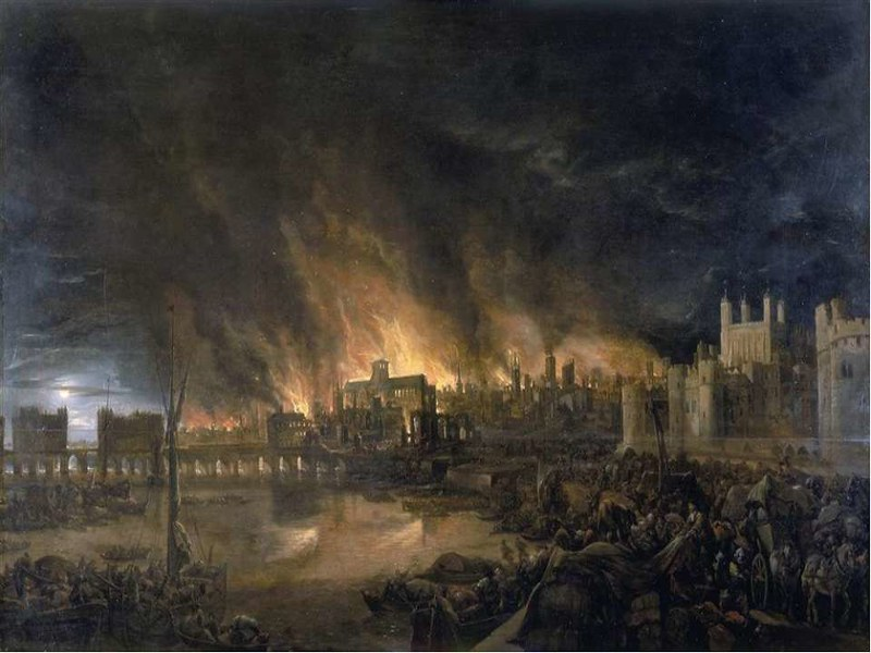 Great Fire of London, by unknown author