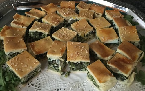 Pascualina: Spinach, onion, mushroom, egg and cheeses, baked in a pie crust