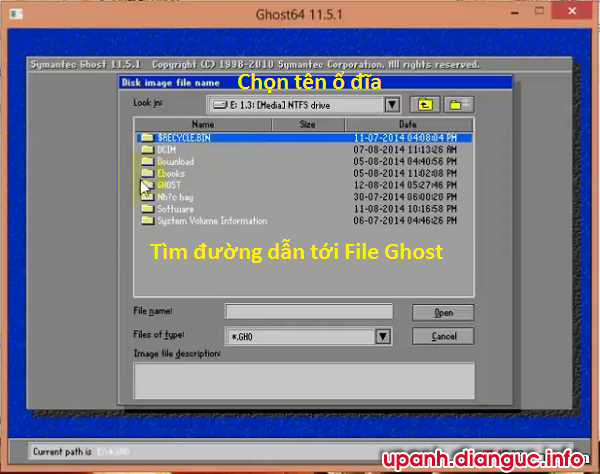 Kiểm tra lỗi file ghost bằng ghost64