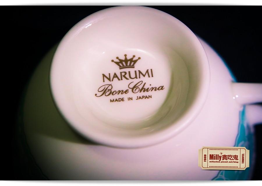 日本NARUMI鳴海骨瓷午茶杯盤組0003