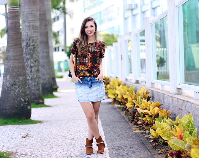 02-look do dia saia jeans e bota western petite jolie