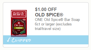 $1/1 Old Spice Bar Soap Coupon