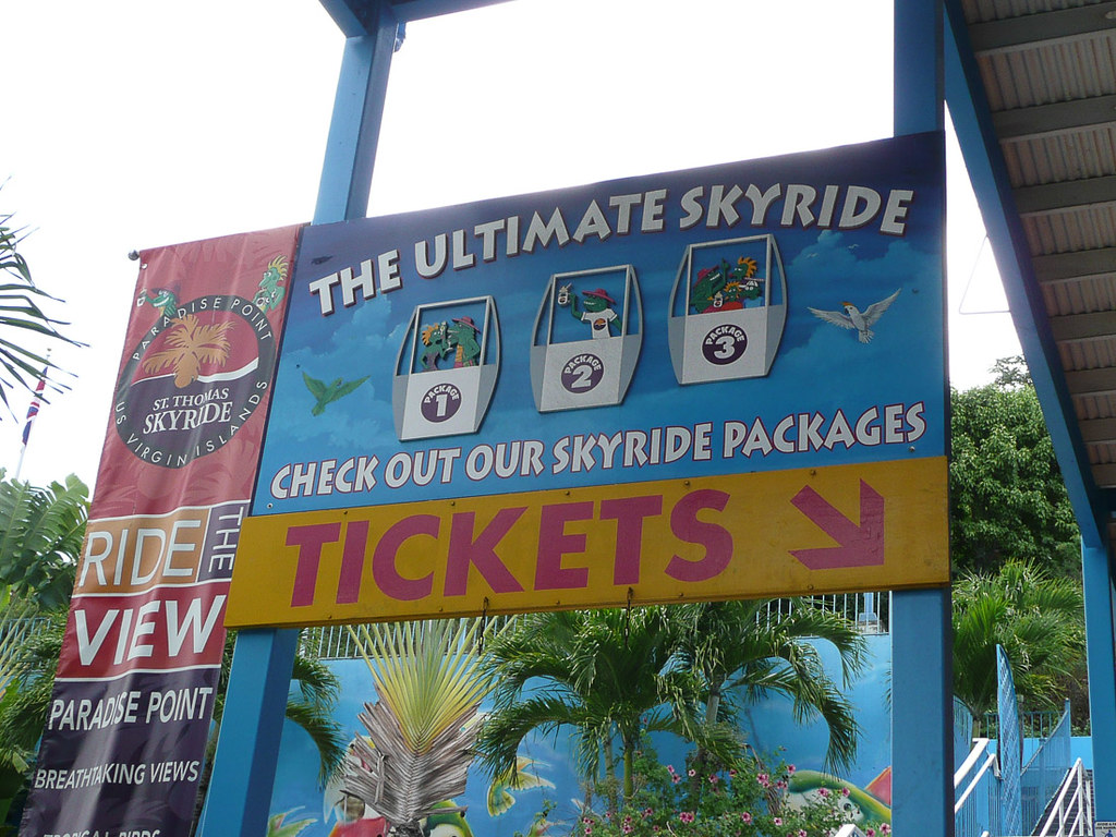 Skyride in St. Thomas