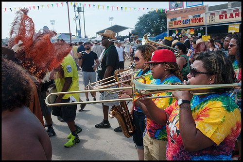 Original Pinettes Brass Band at Jazz Fest 2015 day 6. Photo by Ryan Hodgson-Rigsbee rhrphoto.com