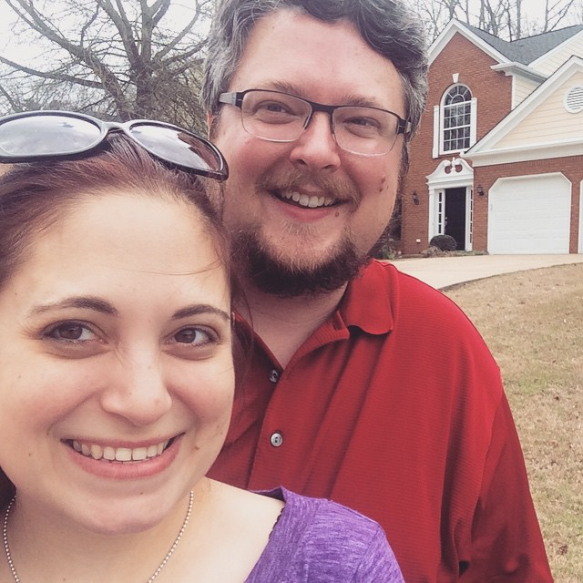 A fun snap in front of the new place - all moved in! #atlanta #weloveatl #igersatl #moving #happy