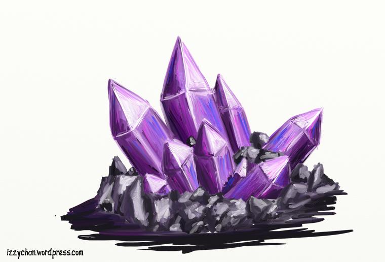 purple crystals artrage
