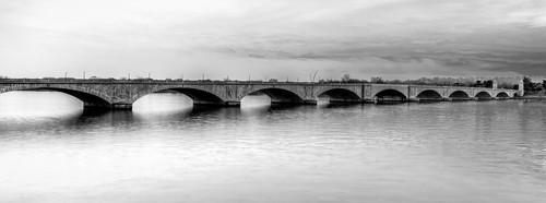Memorial Bridge B&W by Geoff Livingston