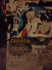 The Terror of the Tongs - c1961 film/movie poster in disused tube station, London
