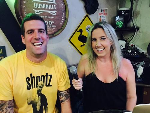 Al Garr and Laura Mendolia at Dog and Duck Quiz Night, Kihei, Maui Pub, restaurant, Hawaii