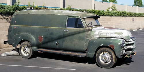 Old Chevy delivery van.