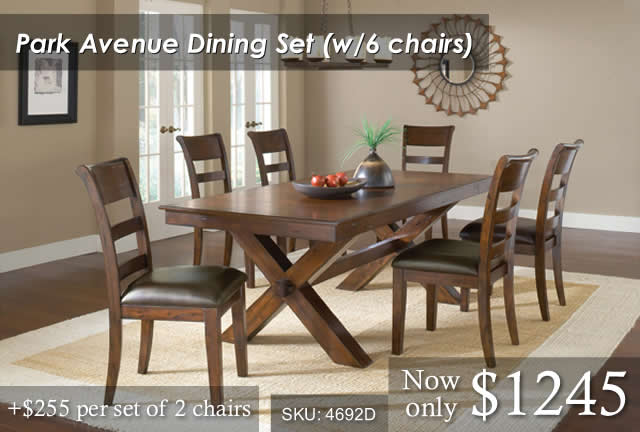 Park Ave Dining Set 6 chairs