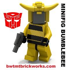 Lego Minifig Bumblebee by BWTMT Brickworks