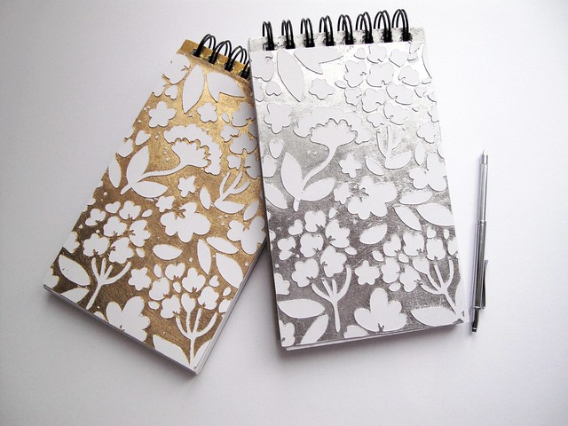 silver and gold leaf sketch books