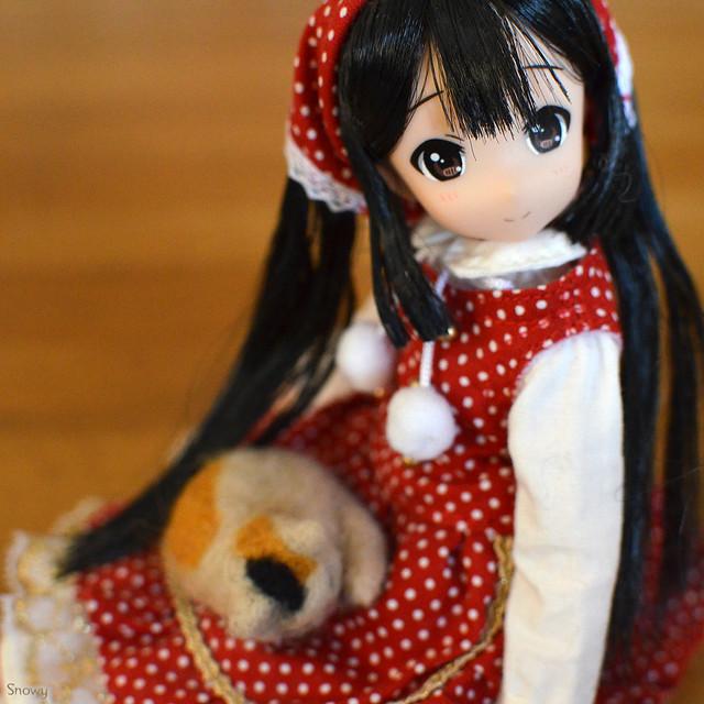 あずにゃん with 復刻版初代リカ2013年クリスマスドレス