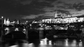 Prague Castle with Manesuv bridge