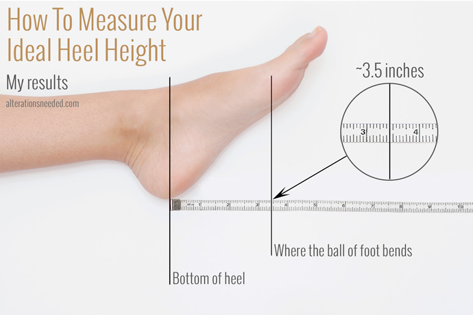 How to measure your ideal heel height alterations needed measure perfect heel height results altavistaventures Image collections
