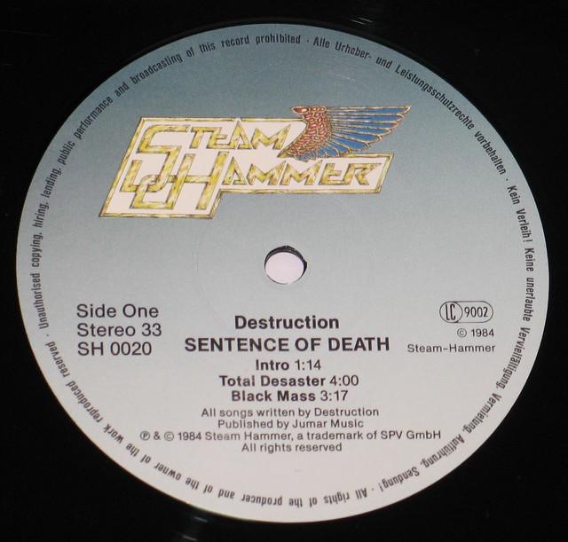 """Destruction Sentence of Death 12"""" VinYl LP"""