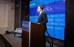 Deputy Secretary of State Tony Blinken delivers remarks on on current priorities and future prospects for U.S. engagement in Central Asia at the Brookings Institution in Washington, D.C., on March 31, 2015. [State Department photo/ Public Domain]