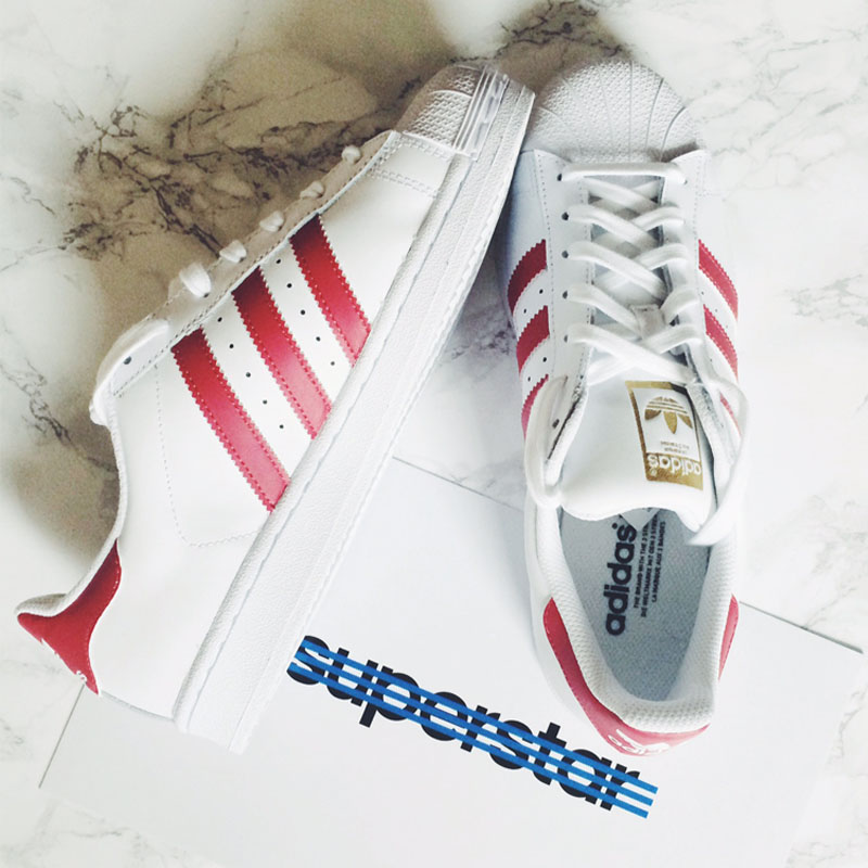Adidas Superstar Red and White, Bumpkin Betty