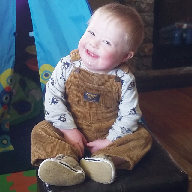 Our sweet Liam turned 20 months old today! He celebrated by getting another tooth, taking several unassisted steps, and climbing onto the coffee table all by himself for the first time! We cheered while he climbed, because it was a huge accomplishment for