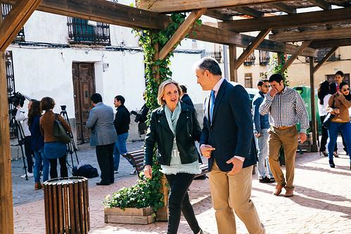 Llegada de Carmen Casero al Ayuntamiento de Villamayor de Calatrava