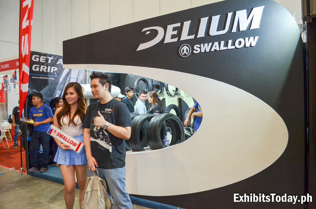 Swallow Delium Tires Exhibit Booth