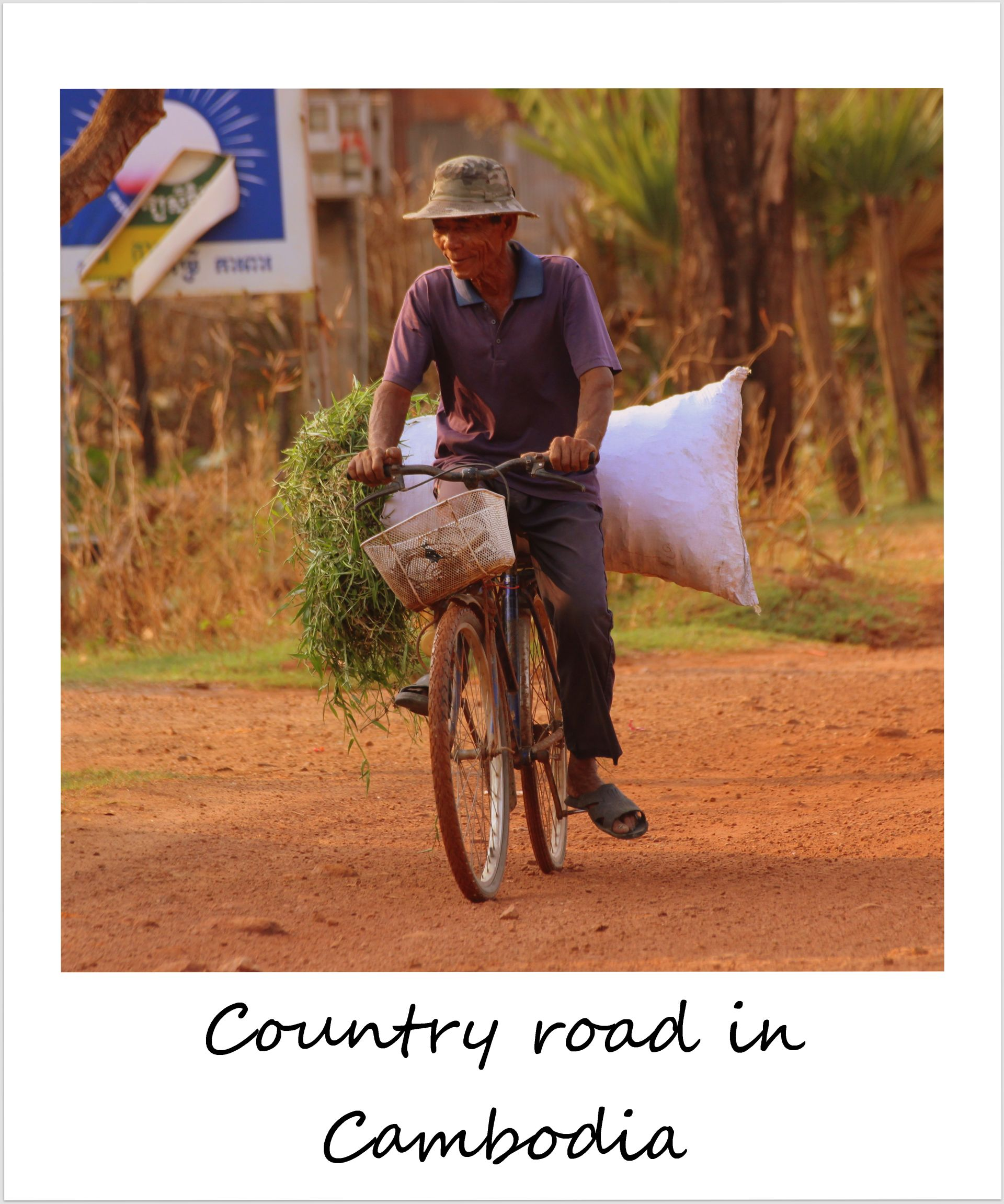 polaroid of the week cambodia kampot country road