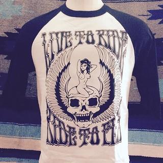 live_to_ride_to_live_fly_skull_winged_pinup_baseball_shirt_psychedelic_60s_70s_hippie_biker_punk_metal_doom_killscum_speedcult_tee_sweatshirt_hoodie_panhead_ironhead_xlh_sportster_reaper_tattoo_traditional