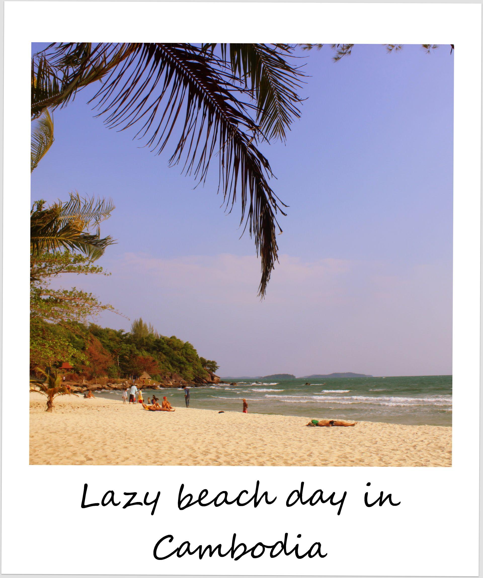 polaroid of the week cambodia sihanoukville sokha beach