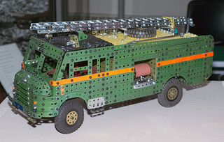 Meccano Bedford Green Goddess Fire Engine