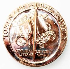 TAMS Literary award medal obverse