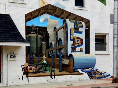 Plainwell Mural by Conrad Kaufman