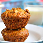 Eggless banana walnut muffin recipe