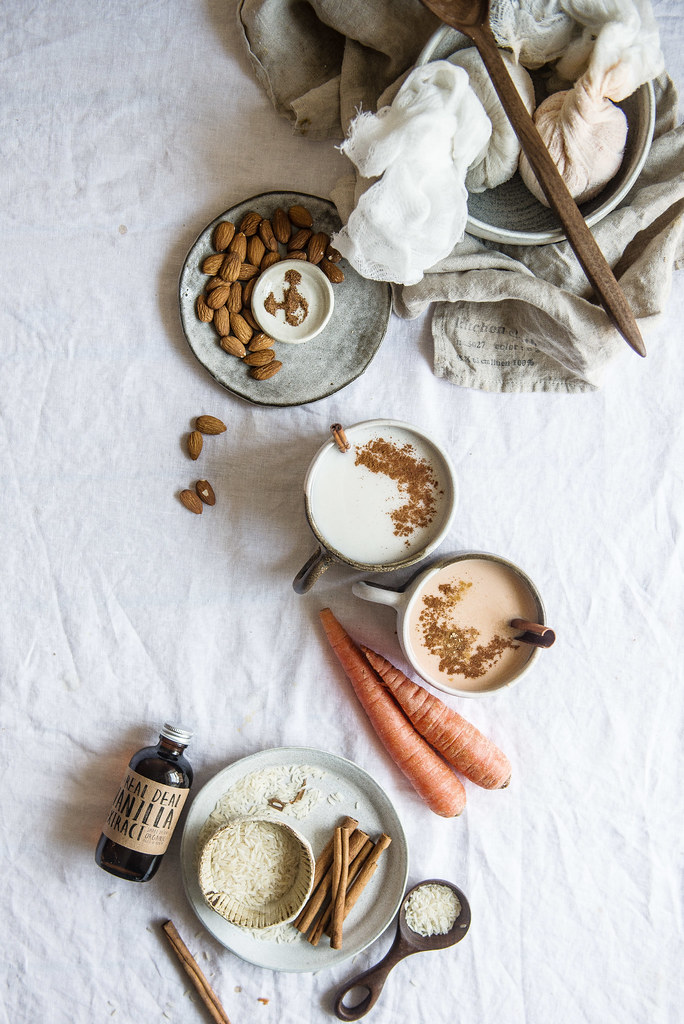 carrot cake horchata (& regular!) | two red bowls