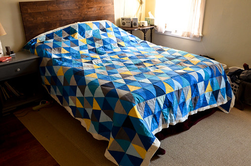 Triangle Quilt: Quilting