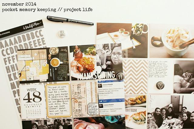 november / december 2014 layouts :: pocket memory keeping / project life