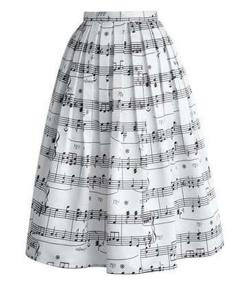 chicwish music skirt