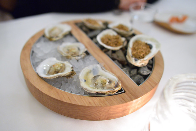 WIDOW'S HOLE OYSTERS hot and cold with apple and black chestnuts
