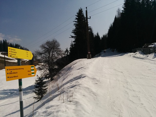 Start am präparierten Forstweg