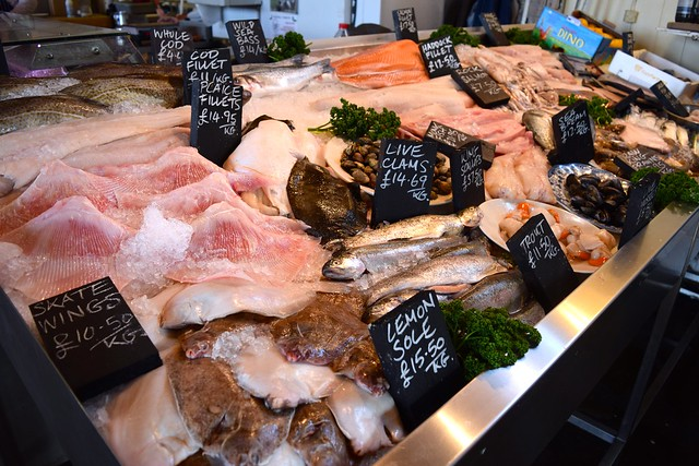 Fish Counter at The Goods Shed, Canterbury
