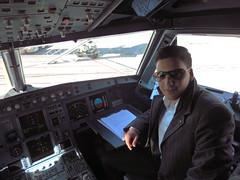 aerospace engineering, aviation, air travel, person, cockpit, flight,