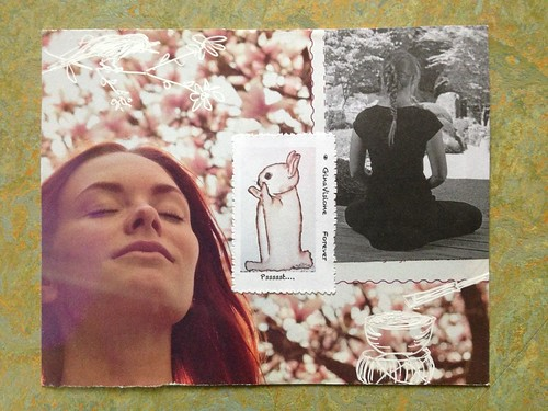 Pssst, post card for U. with GinaVisione's art-stamp