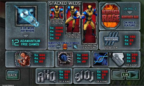 free Wolverine slot mini symbol