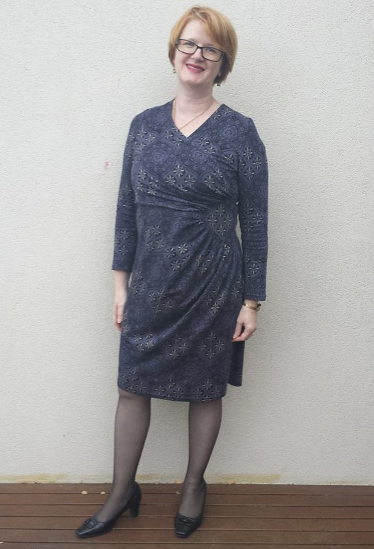 Lekala 4078 in printed ponte from Darn Cheap Fabrics