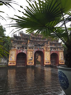 Inside Huế's walled imperial city